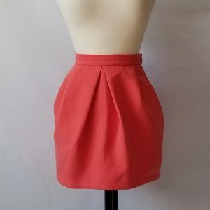 ZARA Trafaluc Womens Pink Bubble Mini Skirt Size 4